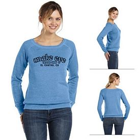 Customized Bella 7501 Ladies' Sponge Fleece Wide Neck Sweatshirt