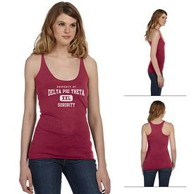 Customized Bella 8430 Ladies' Triblend Racerback Tank