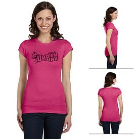 Customized Bella 8701 Ladies' Sheer Mini Rib Short-Sleeve T-Shirt