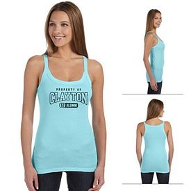 Customized Bella 8711 Ladies' Sheer Mini Rib Thin Strap Tank