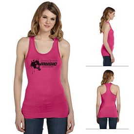 Customized Bella 8770 Ladies' Sheer Mini Rib Racerback Tank