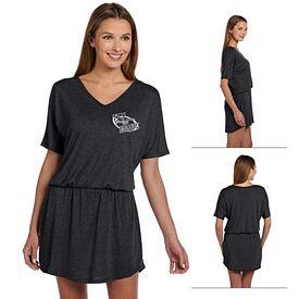 Customized Bella 8812 Ladies' Flowy V-Neck Dress