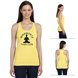 Customized Bella B4070 Ladies' 2x1 Rib Racerback Longer Length Tank