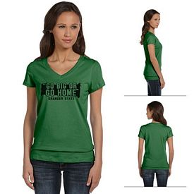 Customized Bella B6005 Ladies' Jersey Short-Sleeve V-Neck T-Shirt