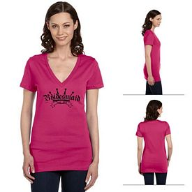 Customized Bella B6035 Ladies' Jersey Short-Sleeve Deep V-Neck Tee
