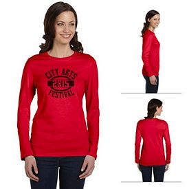 Customized Bella B6500 Ladies' Jersey Long-Sleeve T-Shirt