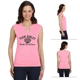 Customized Bella B820 Ladies' Cotton/Spandex Slit-V Raglan T-Shirt