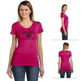 Customized Bella B8413 Ladies' Triblend Short-Sleeve T-Shirt