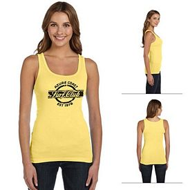 Customized Bella B8780 Ladies' Sheer Mini Rib Tank
