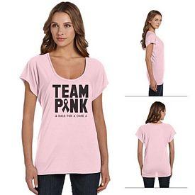 Customized Bella B8801 Ladies' Flowy Raglan T-Shirt