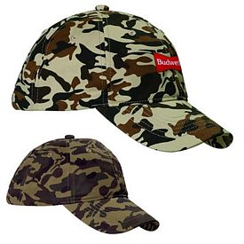 Customized Big Accessories BX018 Unstructured Camo Hat
