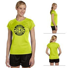 Customized Champion CW23 Ladies 4 oz Double Dry Performance T-Shirt