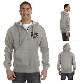 Customized Champion S185 9.7 oz Cotton Max Quarter-Zip Hood Sweatshirt