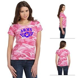 Customized Code V 3665 Ladies' Fine Jersey Camouflage T-Shirt
