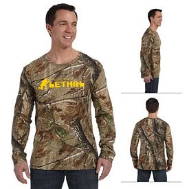 Customized Code V 3981 REALTREE Camouflage Long-Sleeve T-Shirt