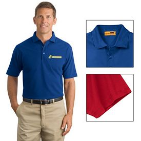Customized CornerStone CS402 Industrial Pocketless Pique Polo