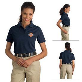 Customized CornerStone CS403 Ladies Industrial Pocketless Pique Polo