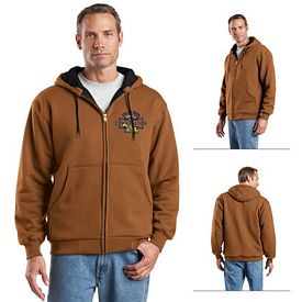Customized CornerStone CS620 Heavyweight Full-Zip Hooded Sweatshirt with Thermal Lining