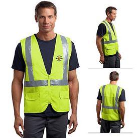 Customized CornerStone CSV405 ANSI 107 Class 2 Mesh Back Safety Vest