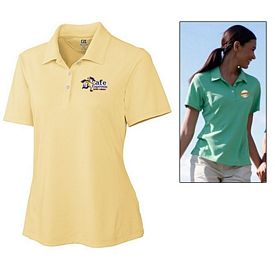 Customized Cutter & Buck LCK02351 Ladies' CB DryTec Kingston Pique Polo