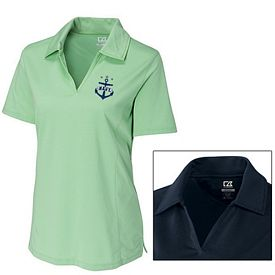 Customized Cutter & Buck LCK02358 Ladies CB DryTec Medina Tonal Stripe Polo