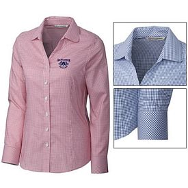 Customized Cutter & Buck LCW04148 Ladies Epic Easy Care Tattersall Shirt