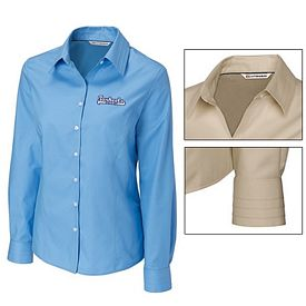 Customized Cutter & Buck LCW08394 Ladies Epic Easy Care Fine Twill Shirt