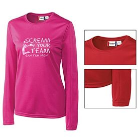 Customized Cutter & Buck LQK00028 Ladies' Long Sleeve Ice Tee