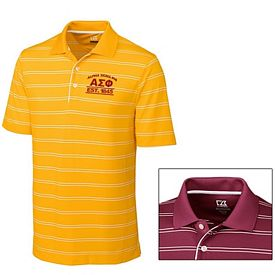 Customized Cutter & Buck MCK00659 Mens CB DryTec Hawthorne Stripe Polo