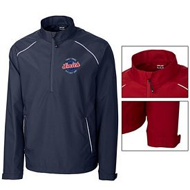 Customized Cutter & Buck MCO00922 Mens CB WeatherTec Beacon Half Zip Jacket