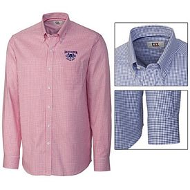 Customized Cutter & Buck MCW01891 Mens Epic Easy Care Tattersall Shirt