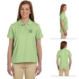 Customized Devon & Jones D112W Ladies Pima Pique Short-Sleeve Polo