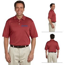 Customized Devon & Jones D140S Mens Solid Perfect Pima Interlock Polo