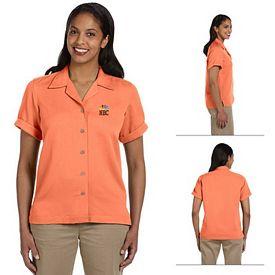 Customized Devon & Jones D670W Ladies Isla Camp Shirt