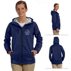 Customized Devon & Jones D756W Ladies Nylon Rip-Stop Rain Jacket