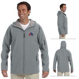 Customized Devon & Jones D998 Mens Hooded Soft Shell Jacket