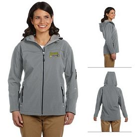Customized Devon & Jones D998W Ladies Hooded Soft Shell Jacket