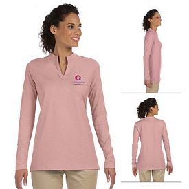 Customized Devon & Jones DP165W Ladies Stretch Jersey Long-Sleeve Tunic