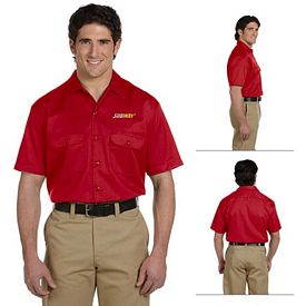 Customized Dickies 1574 Men's 5.25 oz Short-Sleeve Work Shirt