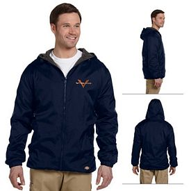 Customized Dickies 33237 Fleece-Lined Hooded Nylon Jacket