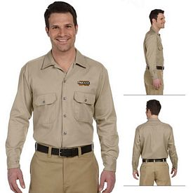 Customized Dickies 574 Men's 5.25 oz Long-Sleeve Work Shirt