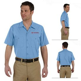 Customized Dickies LS535 Men's 4.25 oz Industrial Short-Sleeve Work Shirt