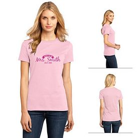 Customized District Made DM104L Ladies' Perfect Weight Crew Tee