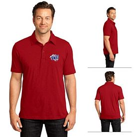 Customized District Made DM350 Men's Slub Polo