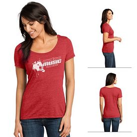 Customized District Made DM471 Ladies' Textured Scoop Tee