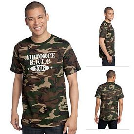 Customized District Made DT104C Men's Perfect Weight Camo Crew Tee