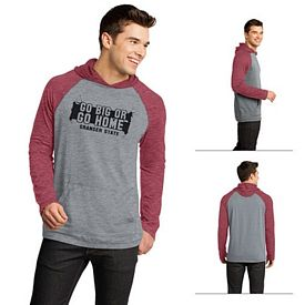 Customized District DT128 Young Men's 50/50 Raglan Hoodie