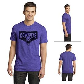 Customized District DT1400 Young Men's Gravel 50/50 Notch Crew Tee