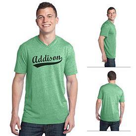 Customized District DT142V Young Men's Tri-Blend V-Neck Tee