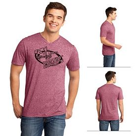 Customized District DT161 Young Men's Microburn V-Neck Tee